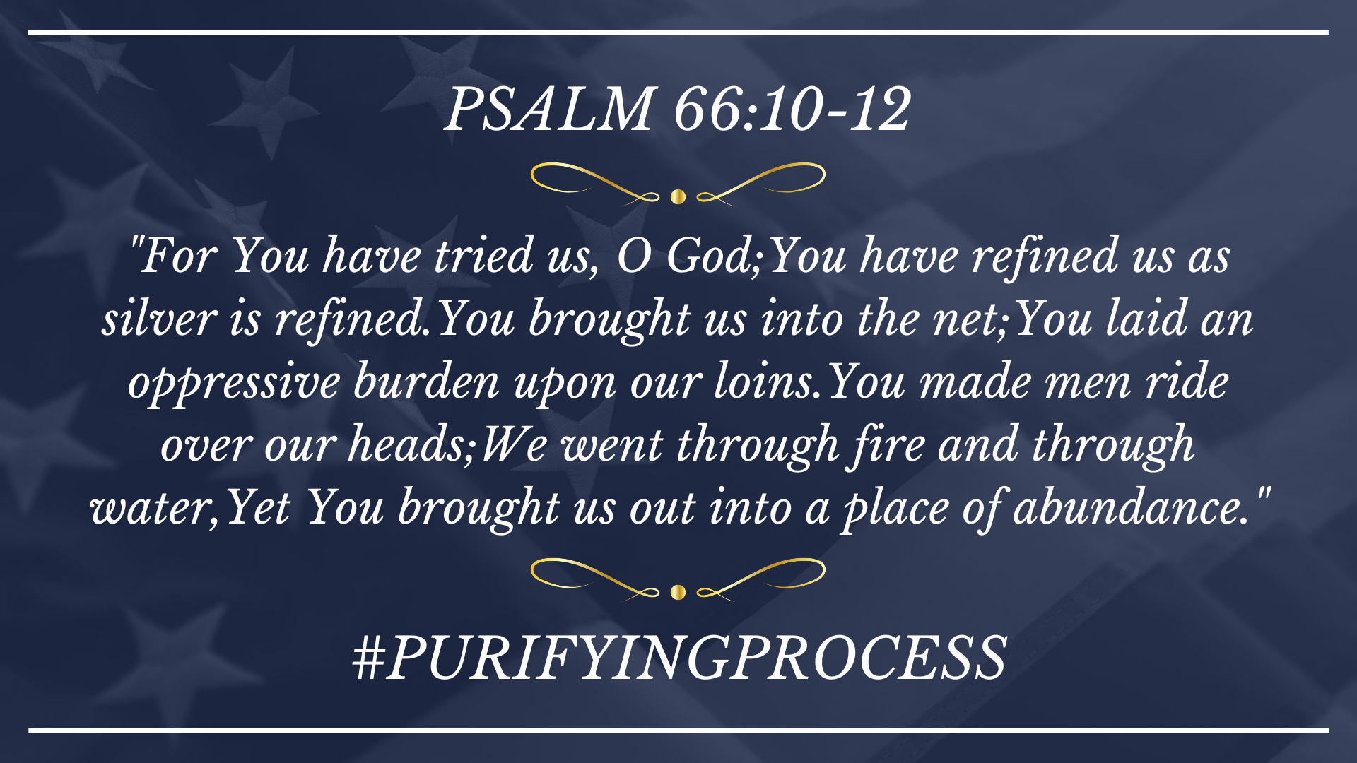 05.17.20 #PURIFYINGPROCESS