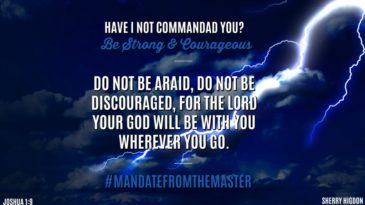 05.25.18 #MandateFromTheMaster