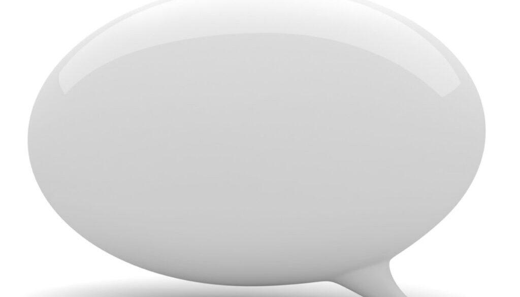 3d bubble talk, on white background